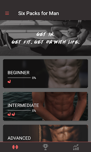 Six Packs for Man–Body Building with No Equipment Fitness app screenshot for Android
