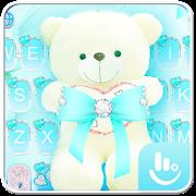 Lovely Cute Blue Bear Keyboard Theme