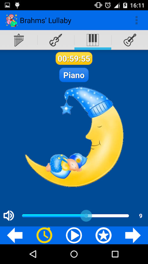 Brahms' Lullaby for babies- screenshot