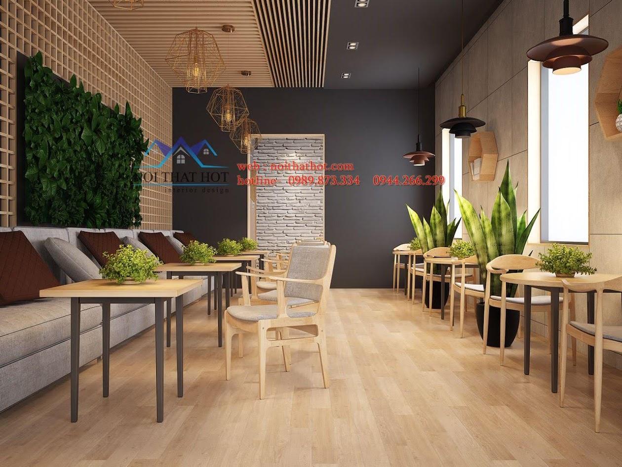 thiết kế quán trà sữa Samcha 5