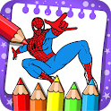 spider woman coloring super heros icon
