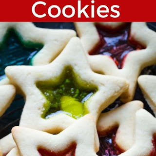 Gluten Free Stained Glass Cookies.