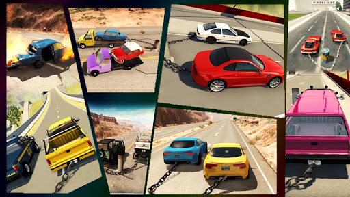 Chained Cars Against Ramp 3D apklade screenshots 2