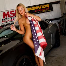USA by Matthew Chambers - Nudes & Boudoir Boudoir ( boudoir, usa, tattoo, flag, sexy, tat, legs, curvy, blonde, matthew chambers photography, busty, pin up,  )