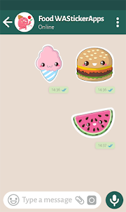 🍔🧁 Kawaii Food Stickers - New WAStickerApps Screenshot