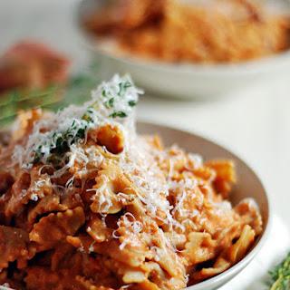 Creamy Ricotta Tomato Sauce with Farfalle