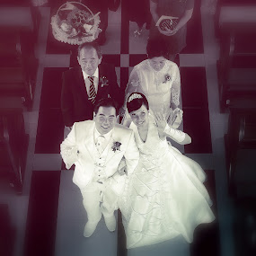 Just Get Married by Aditya Krista - Wedding Ceremony ( b&w, wedding, beauty, women )