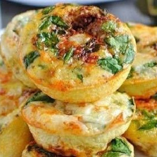 Cottage Cheese Mini Casseroles with Cheese and Vegetables for Breakfast Recipe
