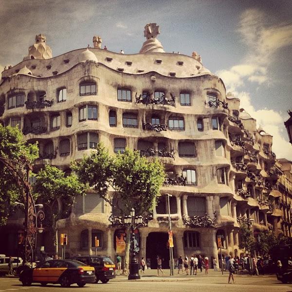 Photo: La Pedrera, another funk-tastic Gaudi creation