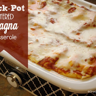 Crock-Pot Layered Lasagna Casserole.