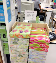 Photo: These colorful gift boxes are such a great idea. You wouldn't even need to wrap them. I would love to see some in more modern and bold patterns and colors.