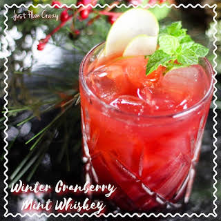 Winter Cranberry Mint Whiskey.