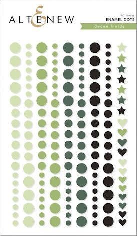 Altenew Enamel Dots 153/Pkg - Green Fields