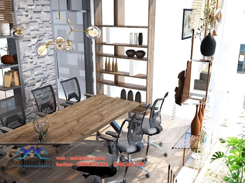 thiết kế showroom trưng bày gốm sứ