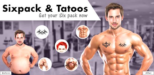 Men Body Styles Sixpack Tattoo Photo Editor App App Su