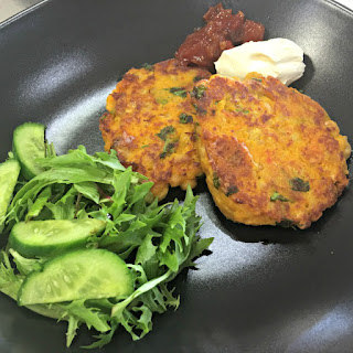Pumpkin and Chickpea Fritters