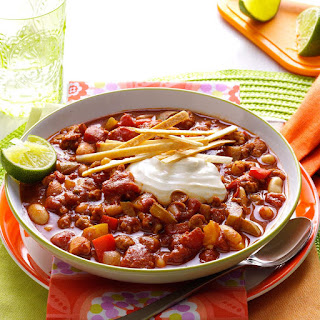Slow Cooker Lime Chicken Chili.