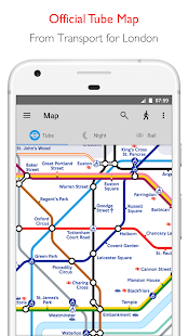 Tube Map - TfL London Underground route planner - náhled