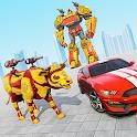 Cow Robot Car Games: Robot Transformation Games icon
