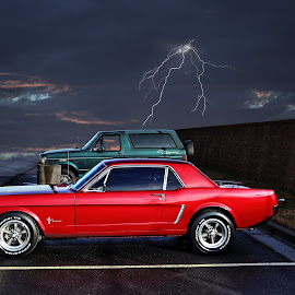 1965 Ford Mustang by JEFFREY LORBER - Transportation Automobiles ( 1965, rust 'n chrome, mustang, ford, lorberphoto, sports car )