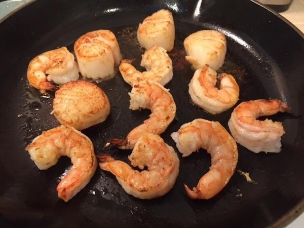 In a hot sauté pan or cast iron skillet, add the oil. When the...