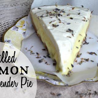 Chilled Lemon & Lavender Pie