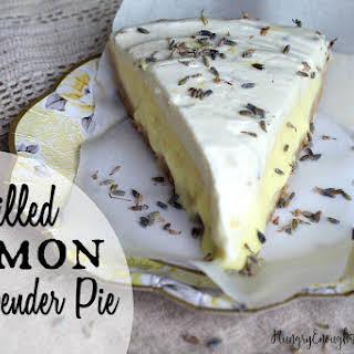 Chilled Lemon & Lavender Pie.