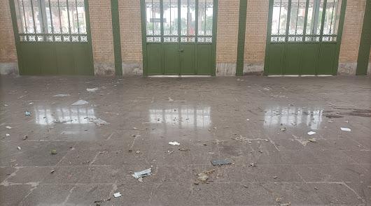 Rehabilitada pero sucia: así está la estación de tren histórica