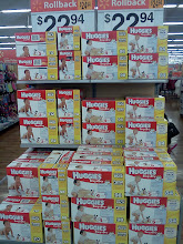 Photo: Love Walmart's Rollback prices on the Huggies diapers. It makes them super affordable!
