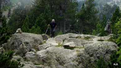 Photo: Pasando la roca.
