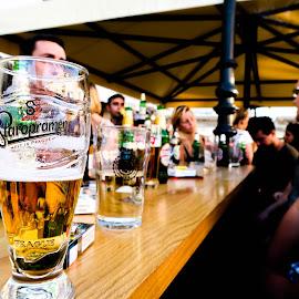 Staropramen by Josip Alar - Food & Drink Alcohol & Drinks ( friends, beer, slavonski, brod, alcohol, drink, staropramen, croatia, summer, beerc, fun, bar )