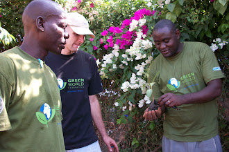 Photo: October - 16th - Community Trash Removal and Tree Planting. This is Mwangiri our tree guru.