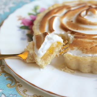Passion Fruit and Lemon Meringue Tartlets