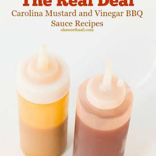Carolina Mustard BBQ Sauce and Vinegar Sauce.