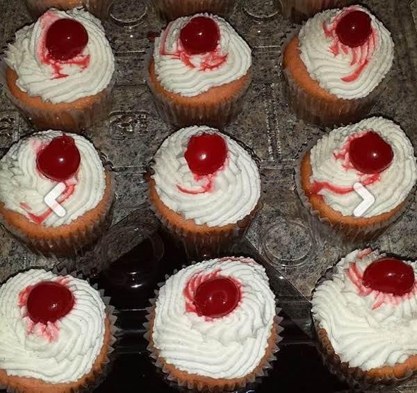 Chantilly Maraschino Cherry Cupcakes Recipe