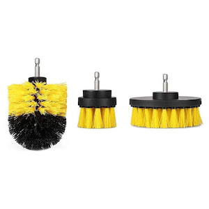 Set 3 perii curatare cu adaptor pentru bormasina/autofiletanta