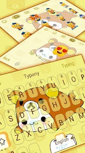 Typany Yellow Cute Bear Keyboard - náhled