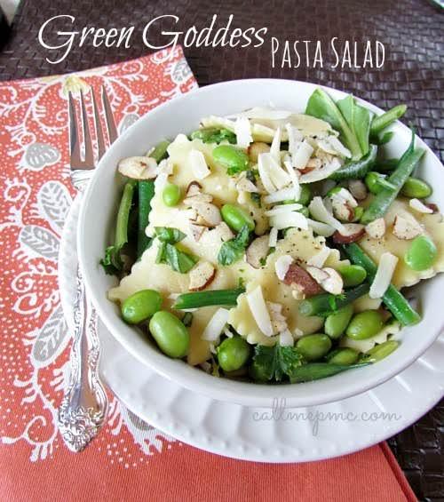 "Green Goddess Pasta Salad""I've mentioned it before, I'm a carb girl. I..."