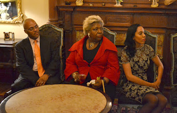 Photo: Temecca Tillard (right) with guests