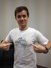 Photo: Iain's getting better at understanding Australia with the help of shirts like these