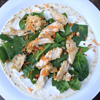 Chicken, Spinach and Almond wrap
