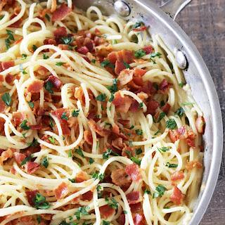Eggless Spaghetti Carbonara
