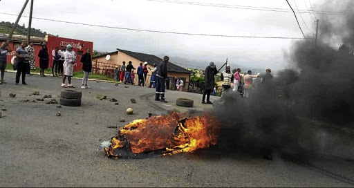 Residents of QwaQwa blockaded roads and looted shops yesterday.