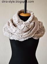 Photo: женский шарф-снуд (хомут) повтор модели Молоко