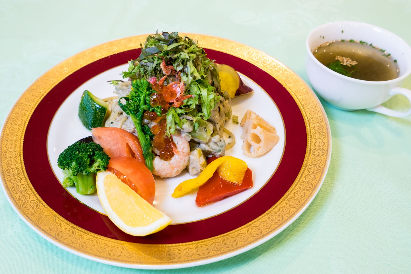 黒千石レシピ:黒千石豆腐シーフードクリームパスタ