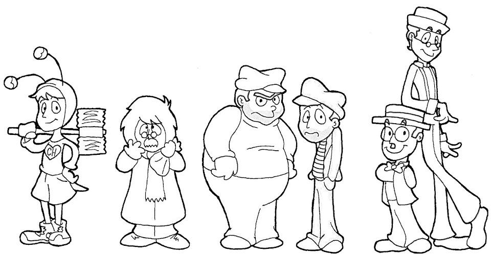 Personajes de chespirito para colorear