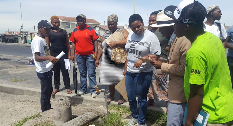 SJC members started their social audit into standpipes and toilets in Khayelitsha on Monday.
