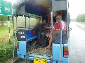 Photo: MHD v Hat Yai. Zrovna byl nemalý deštík.