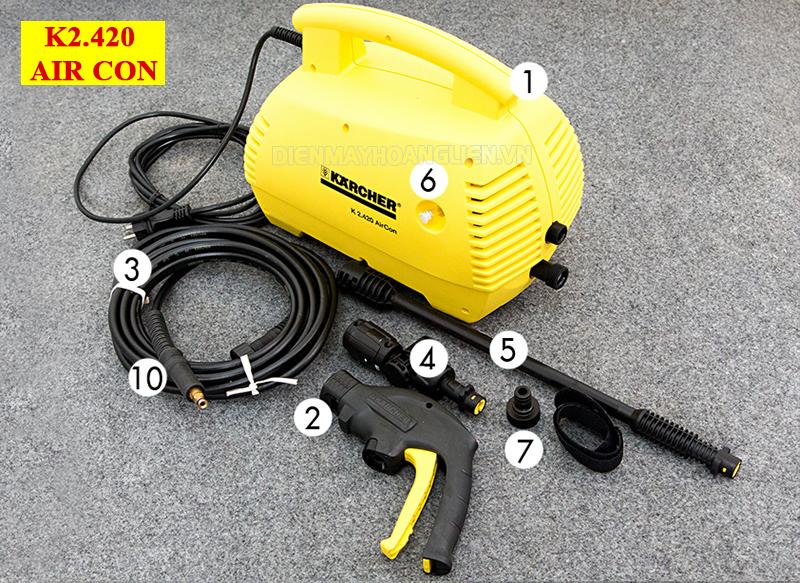 máy rửa xe karcher K2.420 Air Con