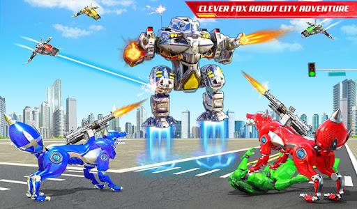 Wild Fox Transform Bike Robot Shooting: Robot Game 12 screenshots 18